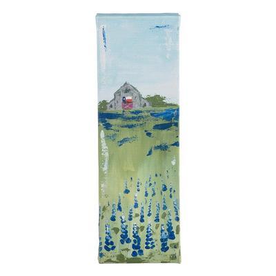 Small Bluebonnet Barn Canvas