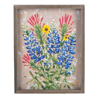 Texas Wildflower Framed Canvas