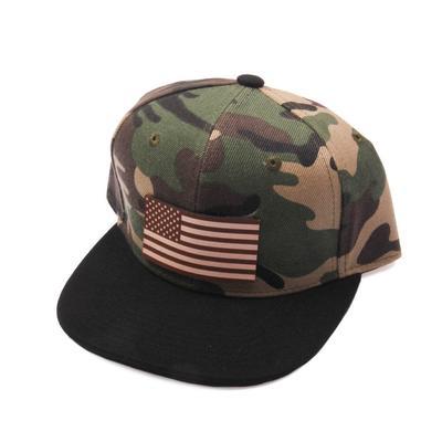 Diamond Bills Youth Camo U.S. Flag Patch Cap