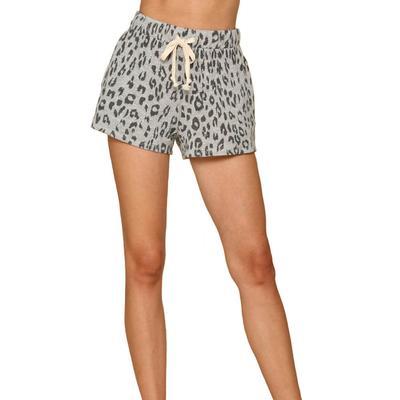 Women's Knit Leopard Print Hacci Shorts