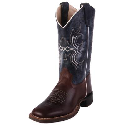 Old West Youth Blue Wipe Out Western Boots