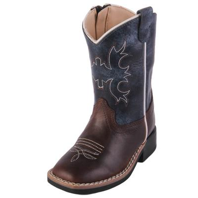 Old West Toddler Blue Wipe Out Western Boots