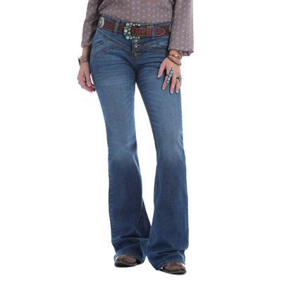 Cruel Girl Women's Hannah High Rise Trouser Flare Jeans