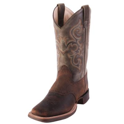 Old West Youth Waxy Green Western Boots