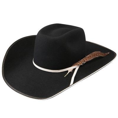 Resistol Men's Black Snake Eyes 4X Felt Hat