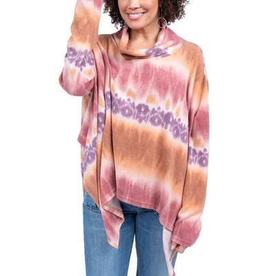Ivy Jane Women's Tie Dye Knit Poncho