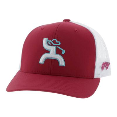 Hooey Youth Red and White Golf Logo Cap