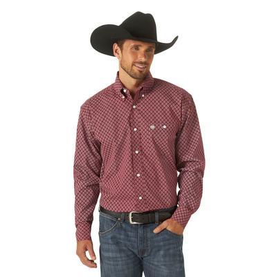Men's Wrangler Classic Print Button Down Shirt