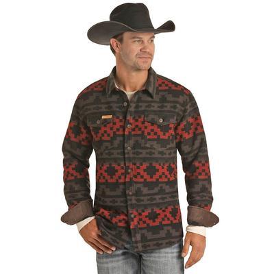 Powder River Men's Aztec Jacquard Shirt Jacket