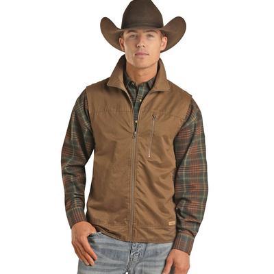 Powder River Men's Brown Cotton Vest