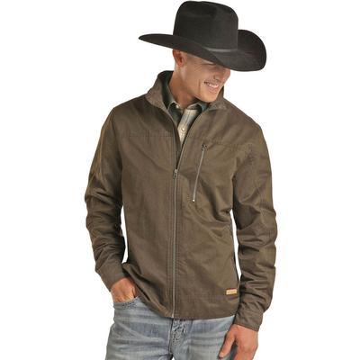 Powder River Men's Full Zip Olive Jacket