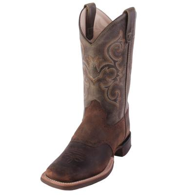 Old West Boy's Waxy Green Western Boots