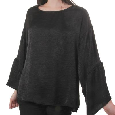 Aunt Wanda Women's Double Flounce Sleeve Top
