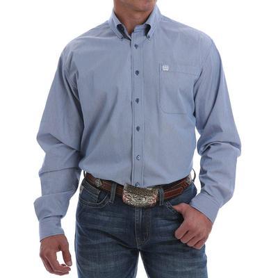 Cinch Men's Micro Blue Striped Button Down