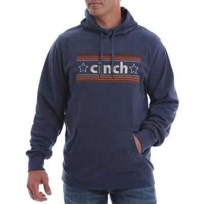 Cinch Men's Navy Logo Fleece Hoodie