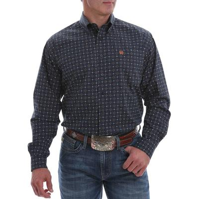 Cinch Men's Brown And White Geometric Western Shirt