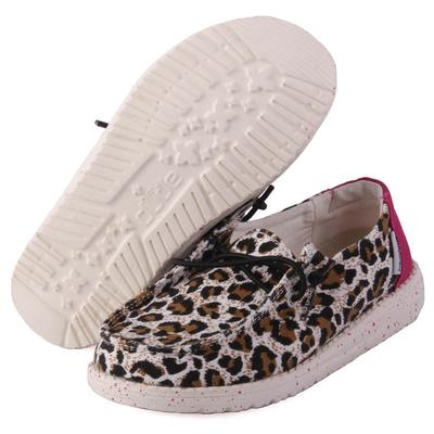 Hey Dude Youth Cheetah Wendy Linen Shoes