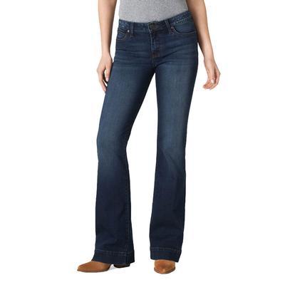 Wrangler Women's Mid Rise Vicki Trouser Jeans