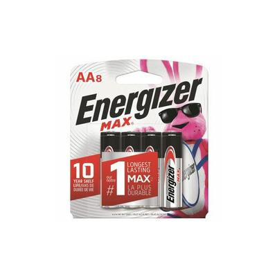 Energizer MAX Alkaline 8-Pack AA Batteries