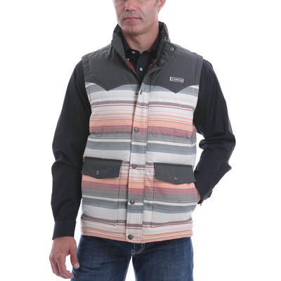 Cinch Men's Blanket Striped Quilted Vest