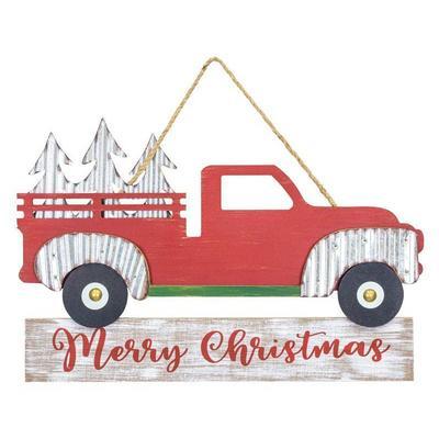 Merry Christmas Tree Farm Truck Hanger