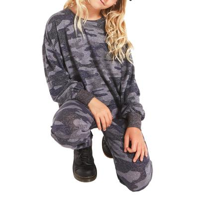 Z Supply Girl's Mayori Camo Sweatshirt