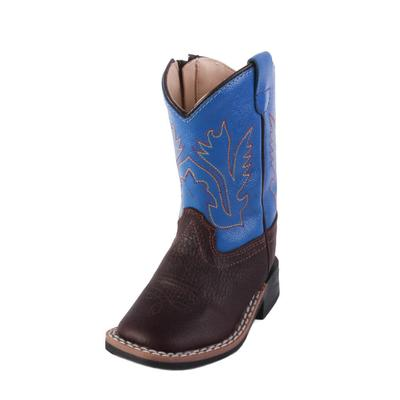 Old West Toddler Thunder Oiled Rust Western Boot