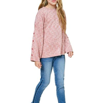 Hayden Girl's Brushed Knit Sweater