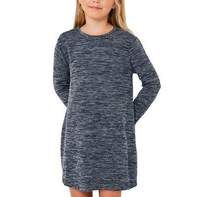 Hayden Girl's Heather Ribbed Dress