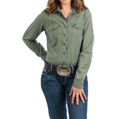 Cinch Women's Green Snap Up Shirt