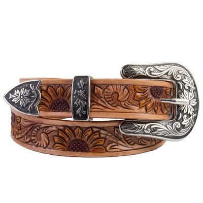 C3 Women's Sunflower Tooled Western Belt