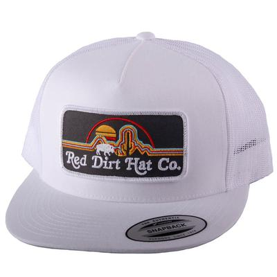 Red Dirt Hat Co.'s White Neon Buffalo Cap