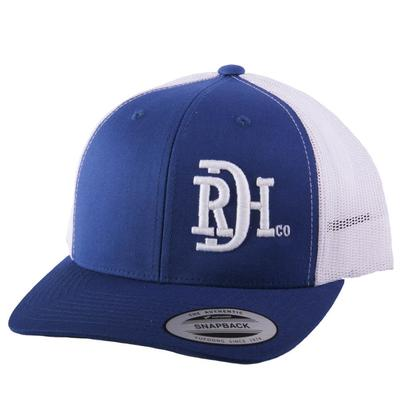 Red Dirt Hat Co.'s Royal Blue and White Logo Cap