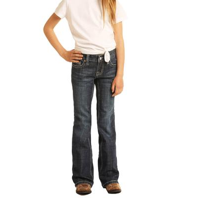 Rock&Roll Girl's Dark Wash Boot cut Jeans