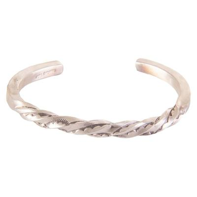 Sterling Silver Navajo Square Wire Twist Bracelet