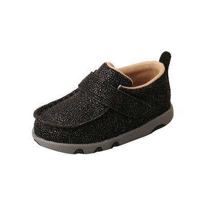 Twisted X Toddler Black Shimmer Driving Moccasins