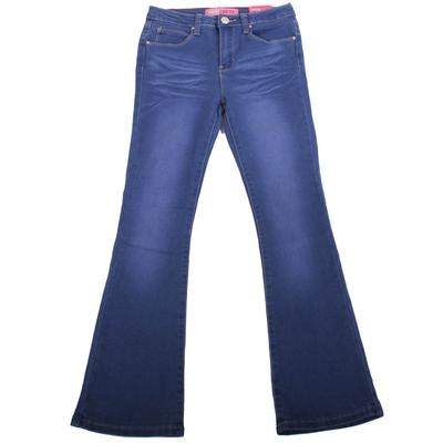 Girl's Basic Wash Denim Flare Jeans