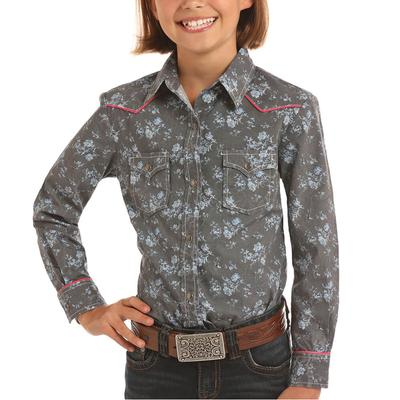 Panhandle Girl's Floral Snap Shirt