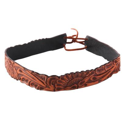 Austin Accent's Hand Carved Leather Hatband