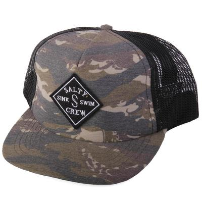 Salty Crew Men's Camo Diamond Logo Cap