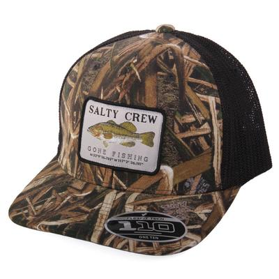Salty Crew Men's Fish Patch Trucker Cap