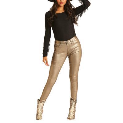 Rock&Roll Women's Metallic Skinny Jeans