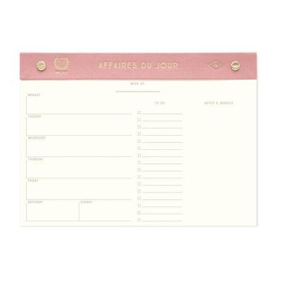 Affaires Du Jour Weekly Desk Planner