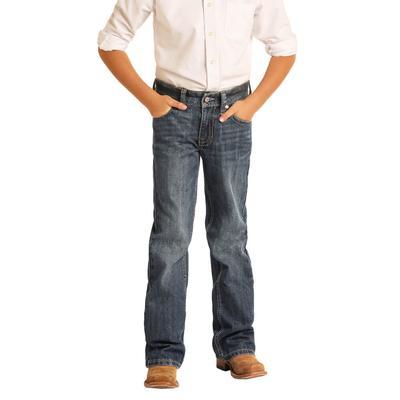 Rock&Roll Boy's Medium Vintage Boot Cut Jeans