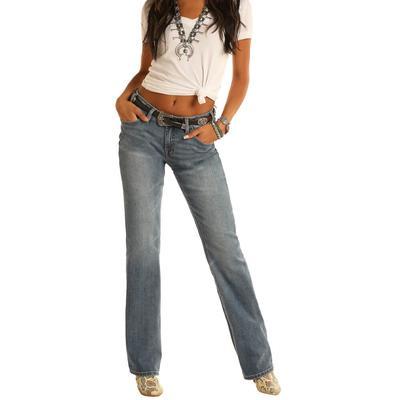 Rock&Roll Women's Mid Rise Bootcut Jeans