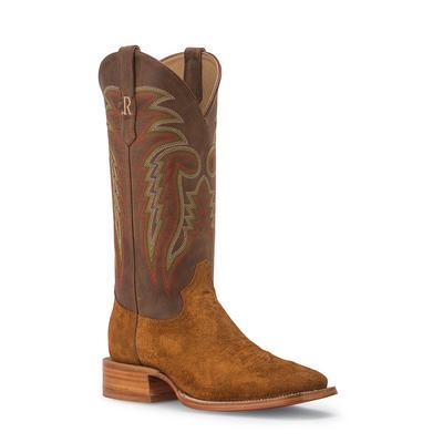 R. Watson Men's Tan Roughout Western Boots