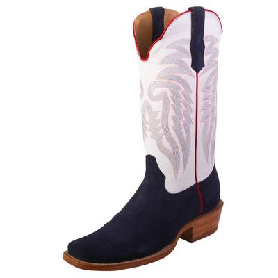 R. Watson Men's Midnight Blue Roughout Western Boots