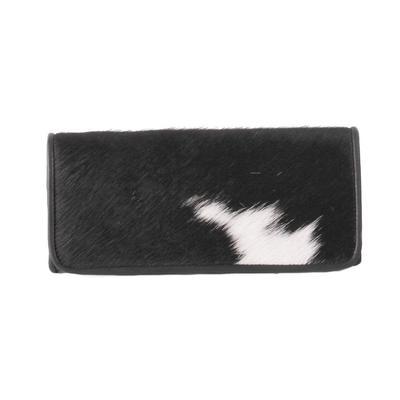 Juan Antonio Black Cowhide Tri-Fold Wallet
