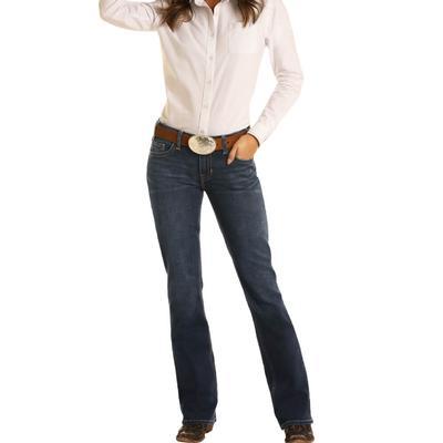 Rock&Roll Women's Darkwash Riding Jeans