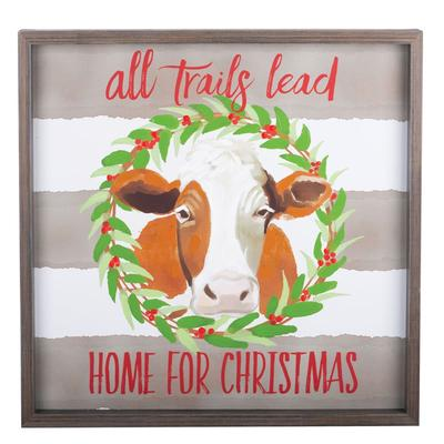 All Trails Lead Home For Christmas Canvas